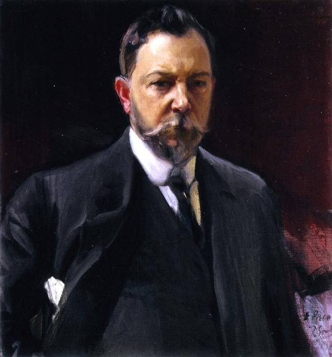 Self-Portrait, Oil On Canvas by Joaquin Sorolla Y Bastida (1863-1923, Spain)