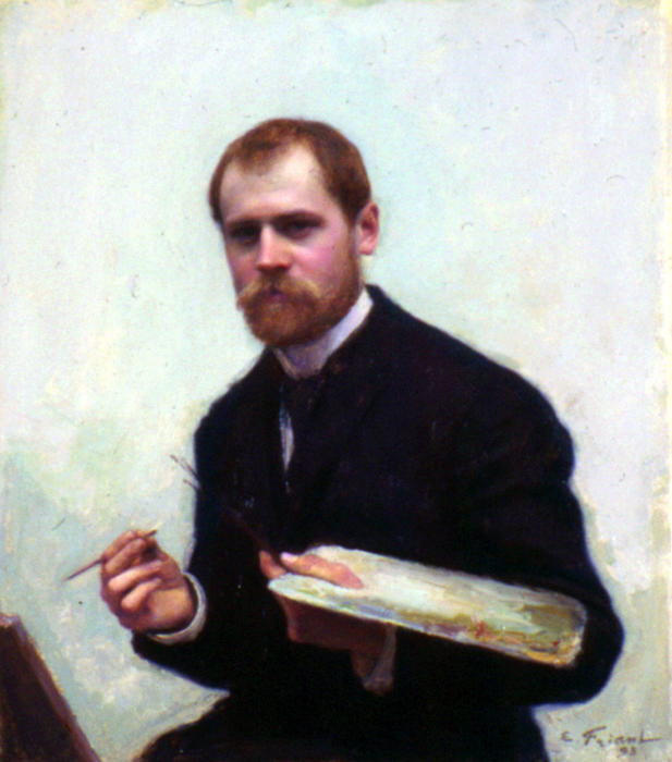 Self-portrait, 1893 by Émile Friant (1863-1932, France) | Oil Painting | ArtsDot.com
