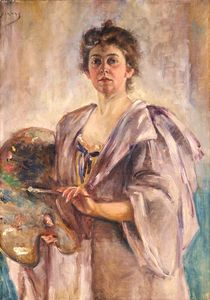 Alice Pike Barney - Self-Portrait in Painting Robe