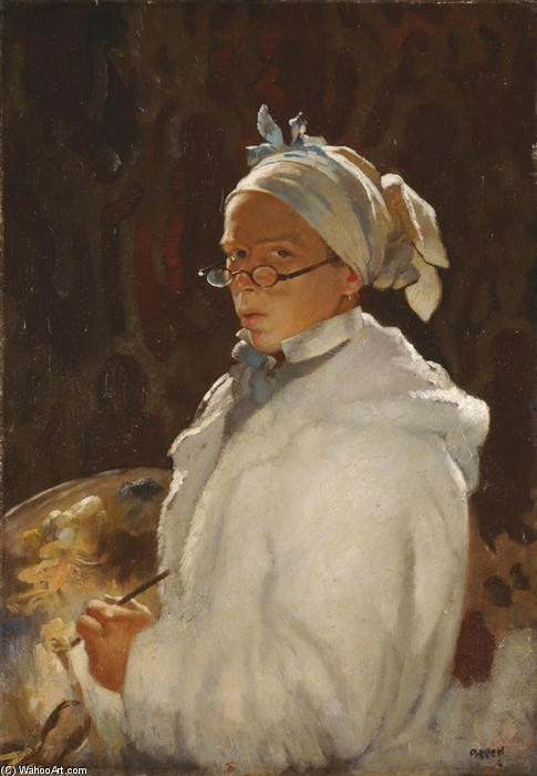 Self-portrait with Glasses, Oil On Canvas by William Newenham Montague Orpen (1878-1931, Ireland)