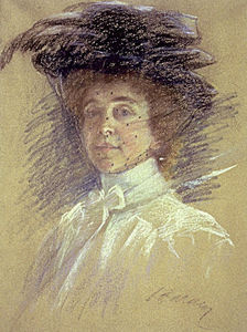 Alice Pike Barney - Self-Portrait with Hat and Veil