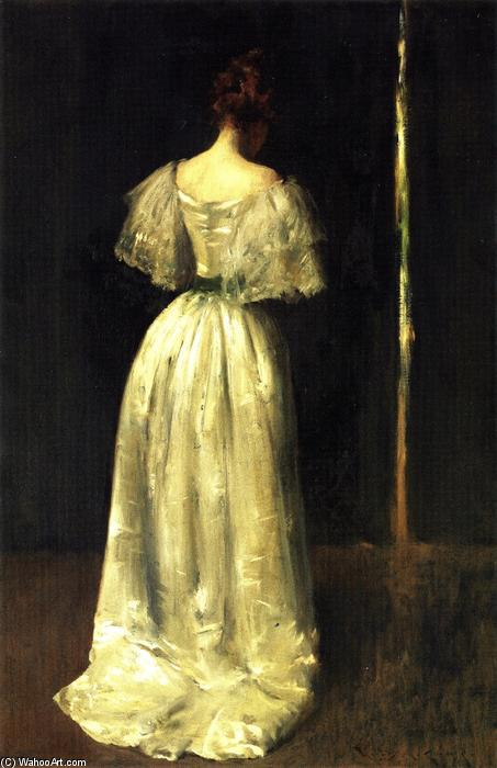 Seventeenth Century Lady, Oil On Canvas by William Merritt Chase (1849-1916, United States)