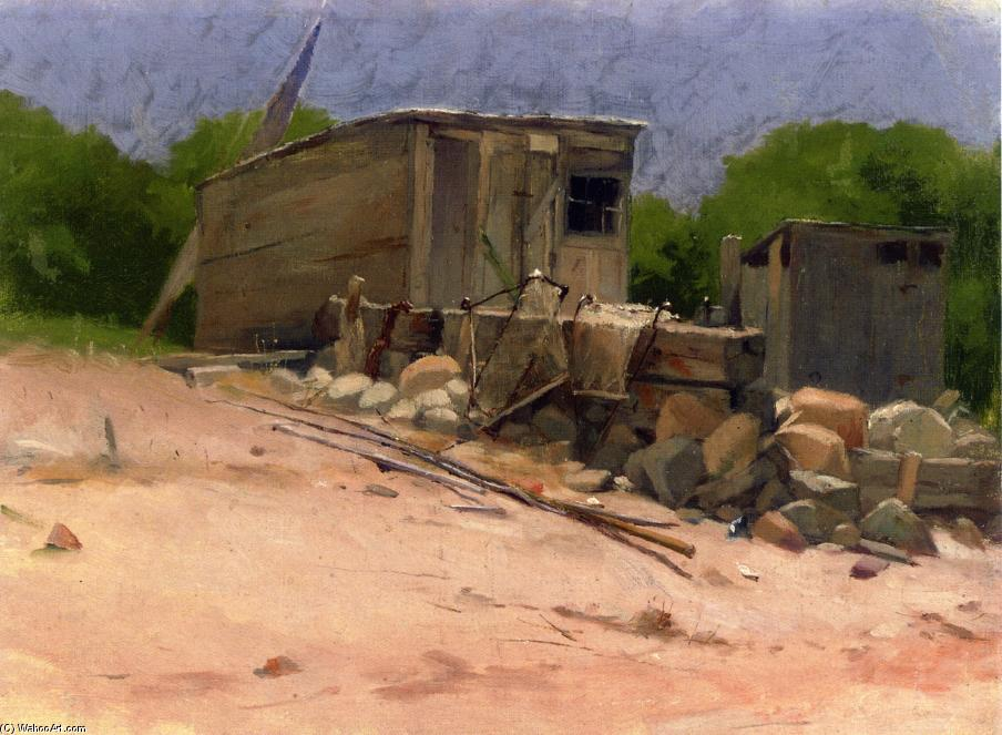 The Shed, 1880 by Dennis Miller Bunker (1861-1890, United States) | Painting Copy | ArtsDot.com