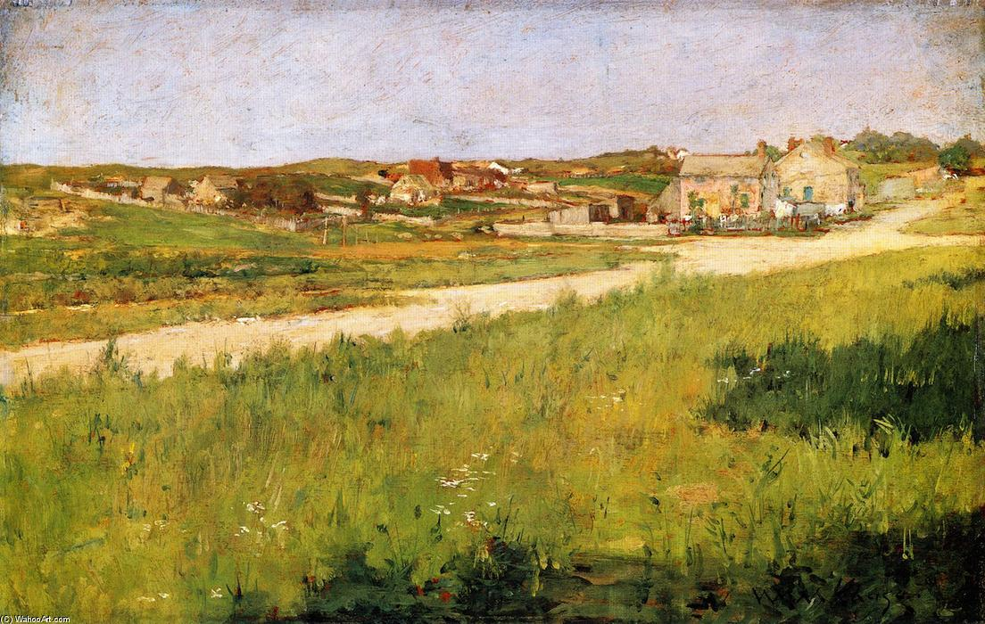 Shinnecock HIlls Landscape, Oil On Panel by William Merritt Chase (1849-1916, United States)