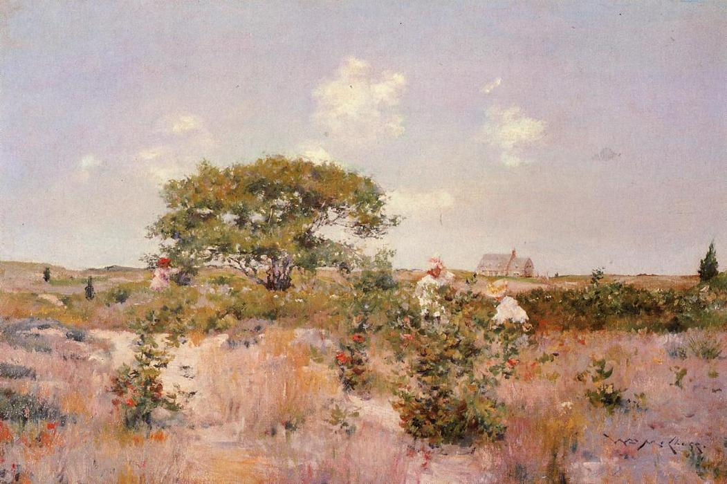 Shinnecock Landscape, Oil On Canvas by William Merritt Chase (1849-1916, United States)