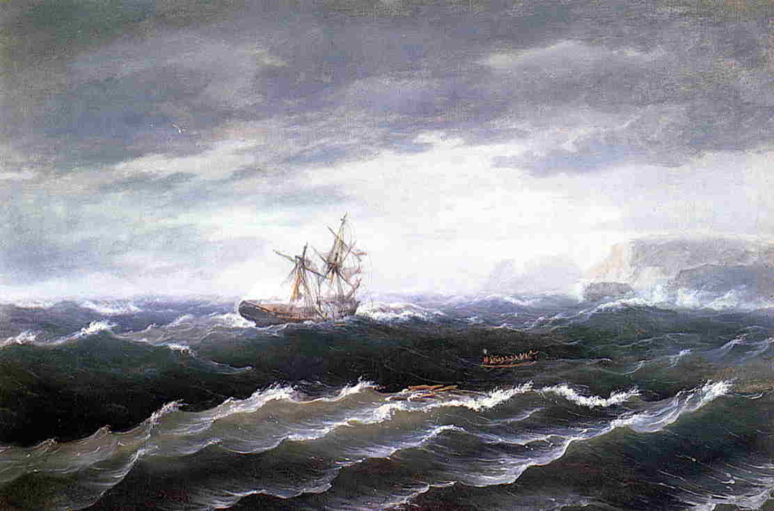 Ship at Sea (also known as Shipwreck), Oil On Canvas by Thomas Birch (1779-1851, United Kingdom)