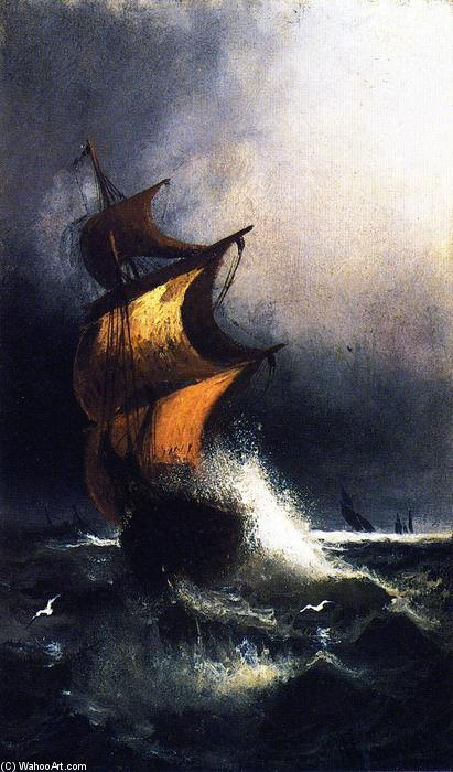 Ship in a Storm, Painting by Henry Ossawa Tanner (1859-1937, United States)