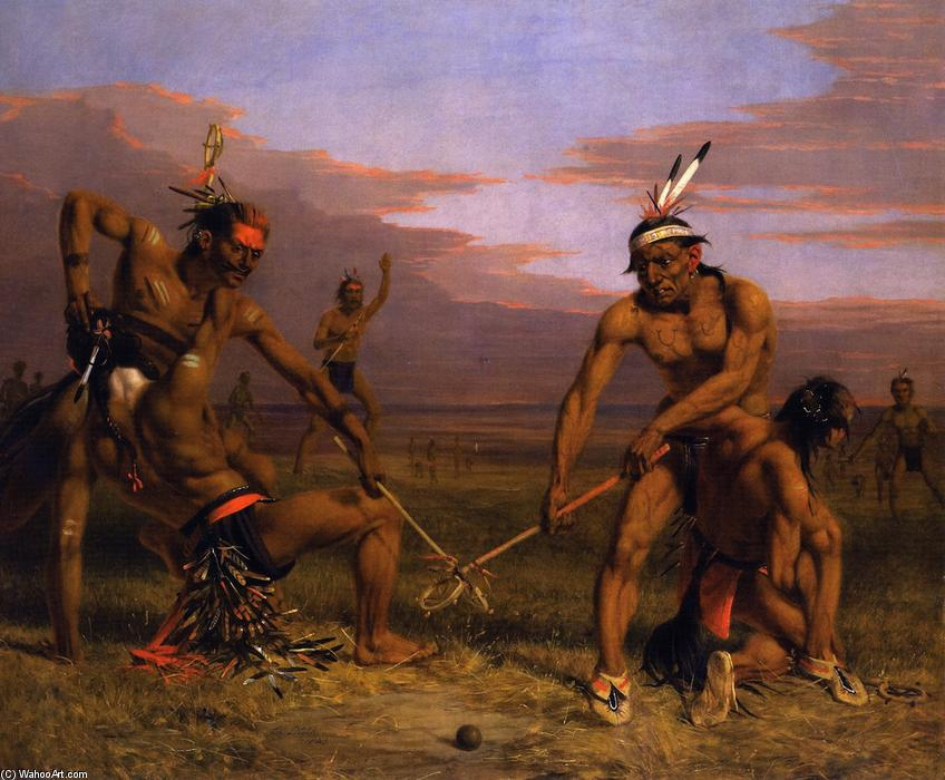 Sioux Playing Ball, Oil On Canvas by Charles Deas (1818-1867, United States)