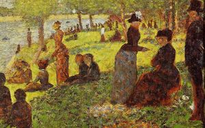 Georges Pierre Seurat - Sketch with Many Figures