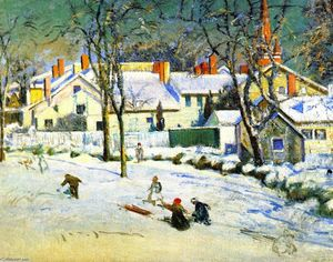 Theodore Wendel - Sledding, Ipswich, Massachusetts