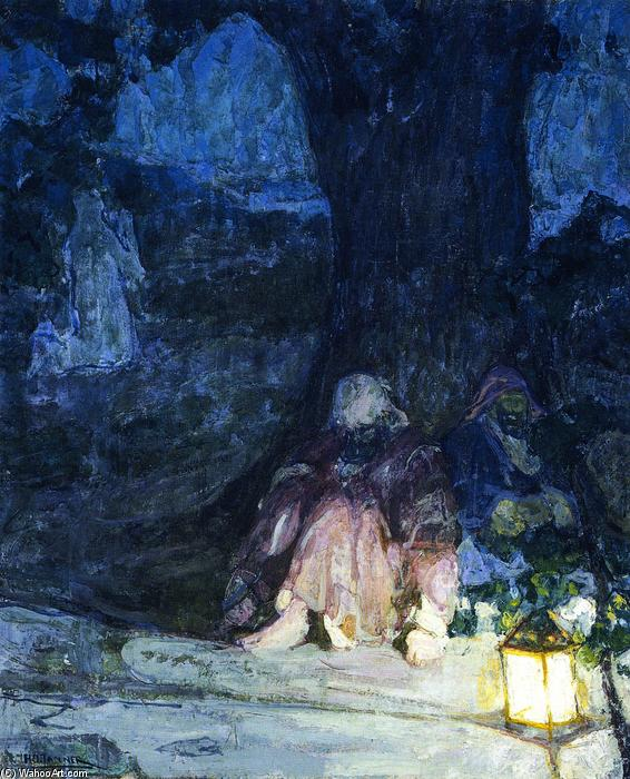 The Sleeping Disciples (also known as Christ in the Garden of Gethsemane), 1923 by Henry Ossawa Tanner (1859-1937, United States) | Art Reproductions Henry Ossawa Tanner | ArtsDot.com