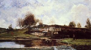 Charles François Daubigny - Sluice in the Optevoz Val..