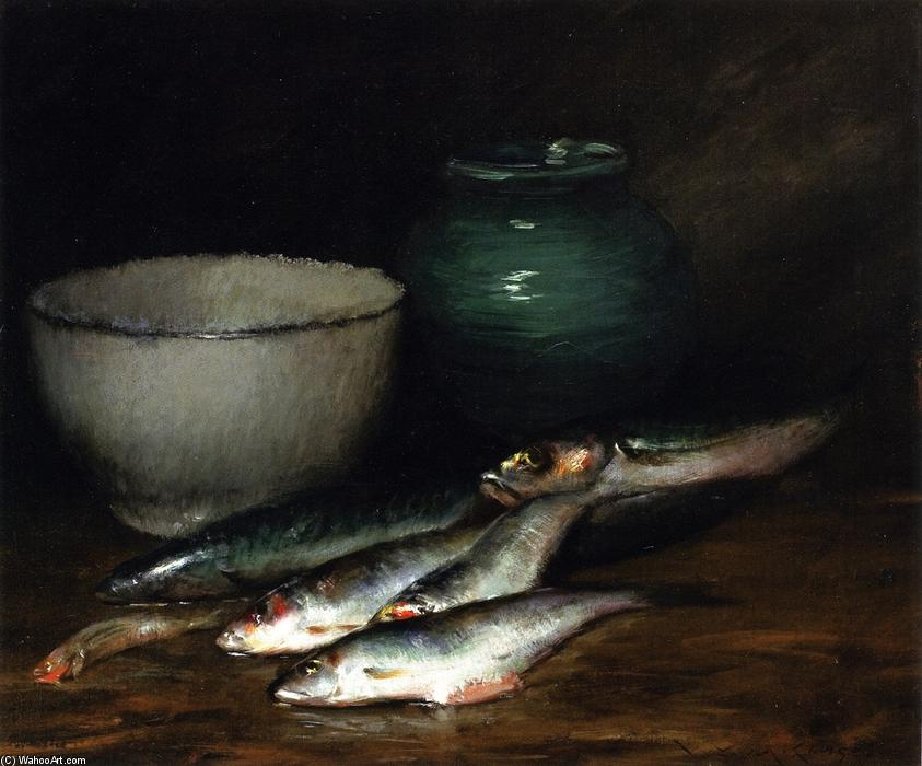 A Small Pile of Fish, Oil On Canvas by William Merritt Chase (1849-1916, United States)