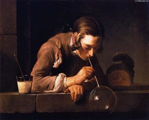Jean-Baptiste Simeon Chardin - Soap Bubbles (also known as Young Man Blowing Bubbles)