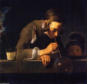 Jean-Baptiste Simeon Chardin - -Soap Bubbles (also known as Young Man Blowing Bubbles)-