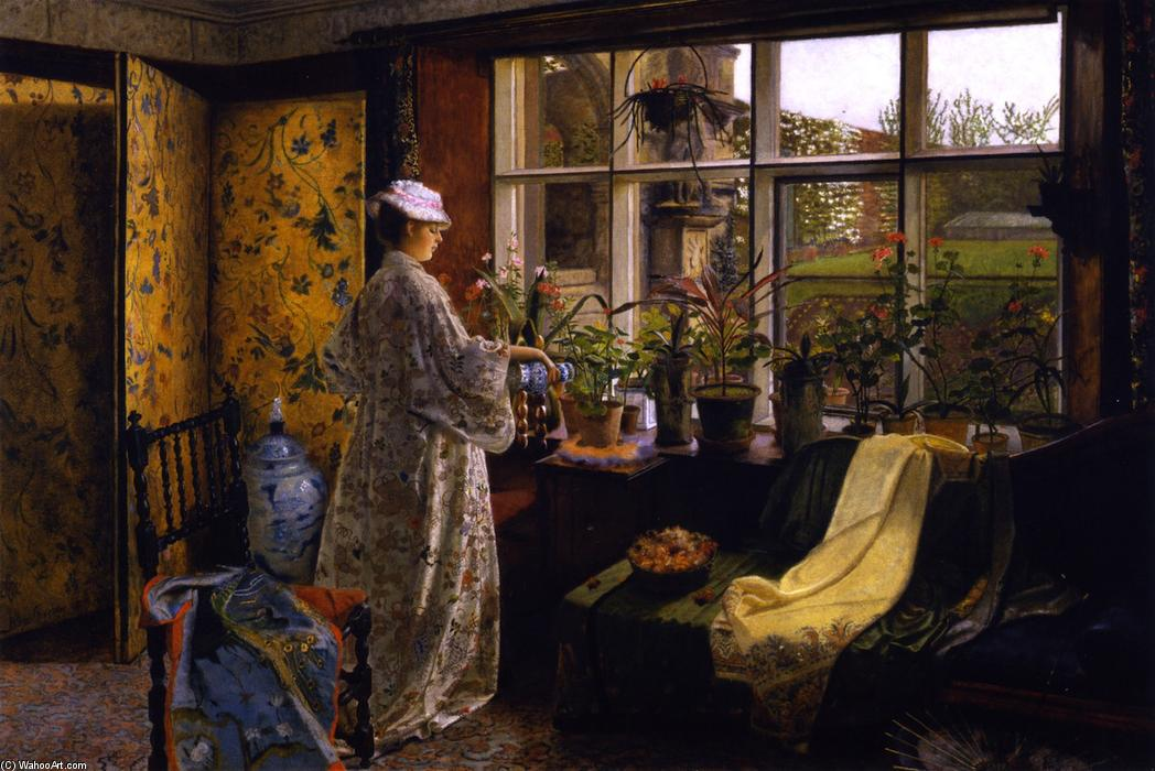 Spring by John Atkinson Grimshaw (1836-1893, United Kingdom)