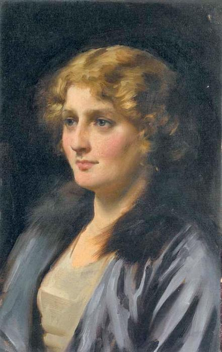 Stella, Oil On Canvas by Thomas Benjamin Kennington (1856-1916, United Kingdom)