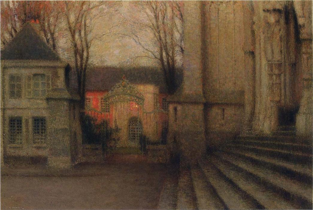 Steps at Chartes, Oil On Canvas by Henri Eugène Augustin Le Sidaner (1862-1939, Mauritius)