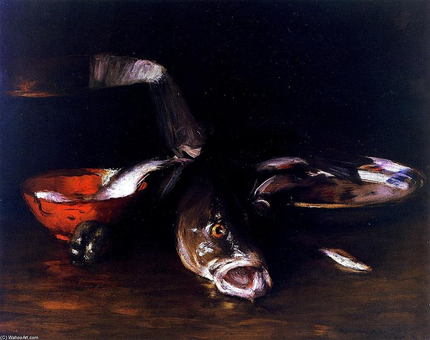 Still LIfe Fish (also known as Still LIfe with Fish), Oil On Canvas by William Merritt Chase (1849-1916, United States)