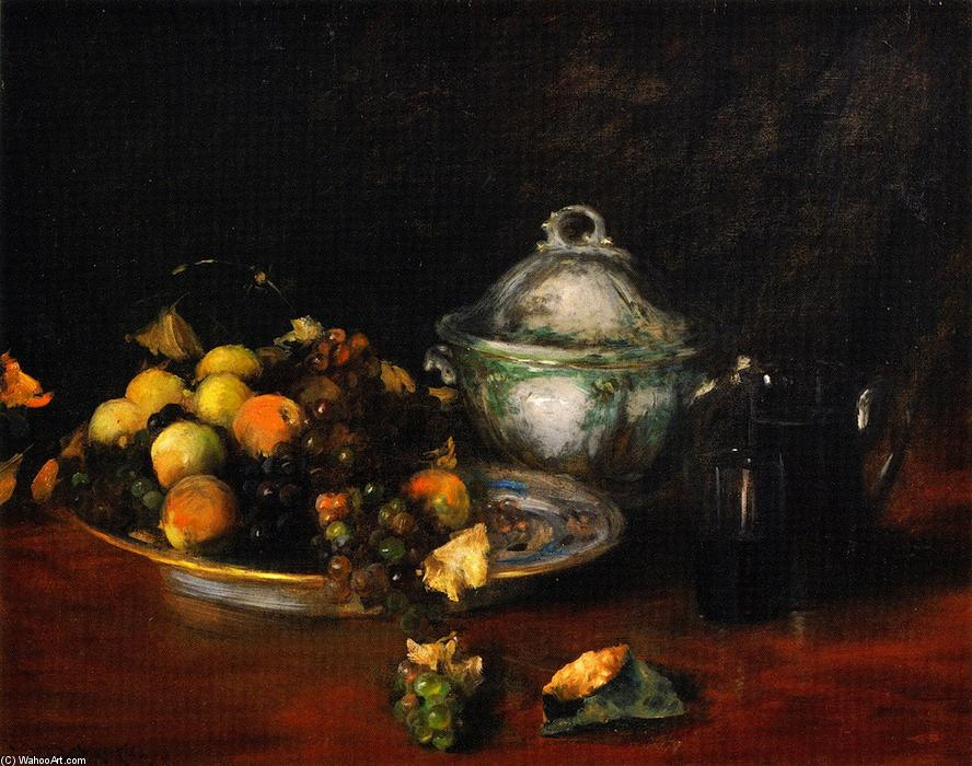 Still LIfe: Fruit, Oil On Canvas by William Merritt Chase (1849-1916, United States)