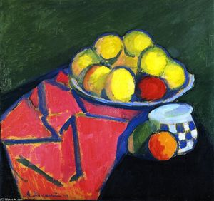 Alexej Georgewitsch Von Jawlensky - Still LIfe with Apples