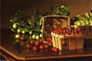 Levi Wells Prentice - Still Life with Cherries and Gooseberries