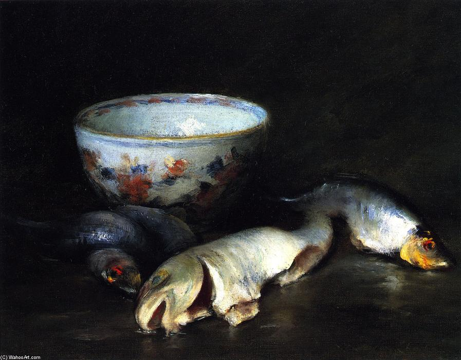 Still LIfe with Fish (8), Oil On Canvas by William Merritt Chase (1849-1916, United States)