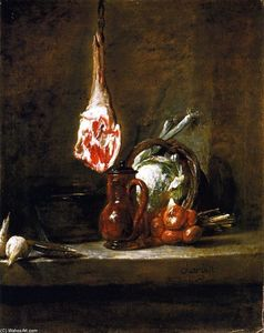 Jean-Baptiste Simeon Chardin - Still LIfe with Leg of Mutton
