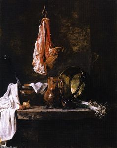 Jean-Baptiste Simeon Chardin - Still LIfe with Loin of Mutton