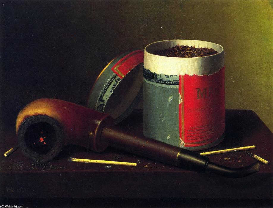 Still LIfe with Pipe, Oil On Canvas by William Michael Harnett (1848-1892, Ireland)