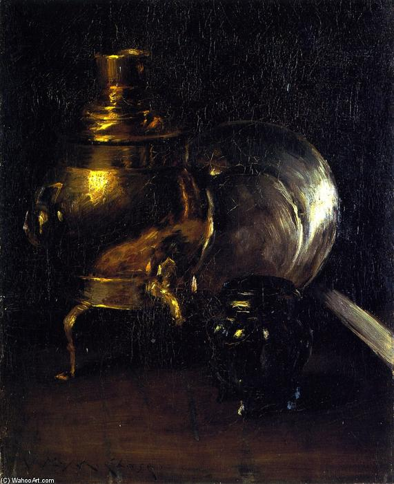 Still LIfe with Samovar by William Merritt Chase (1849-1916, United States) | ArtsDot.com