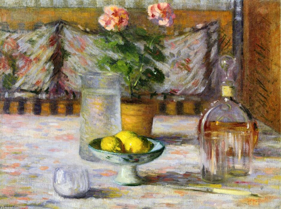 Still Life with Three Lemons, 1895 by Theodore Earl Butler (1861-1936, United States) | Art Reproduction | ArtsDot.com