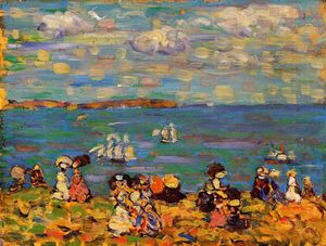 Maurice Brazil Prendergast - St. Malo (also known as Sketch, St. Malo)