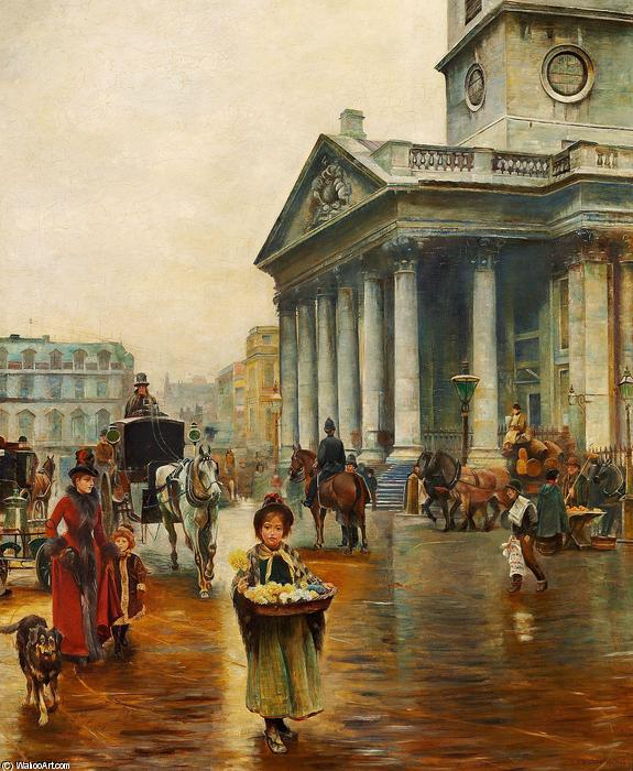St. Martin in the Fields by Thomas Benjamin Kennington (1856-1916, United Kingdom)