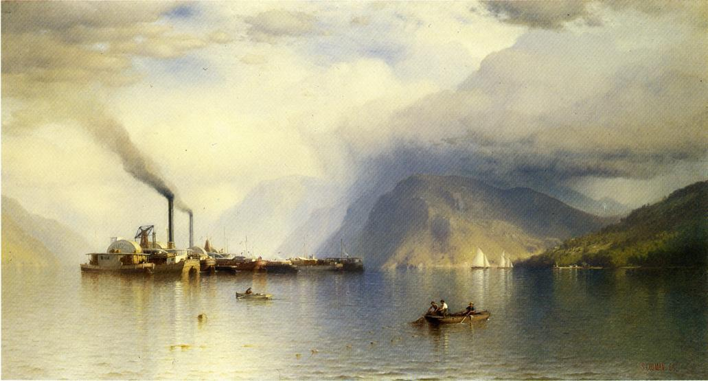 Storm King on the Hudson, Oil On Canvas by Samuel Colman (1832-1920, United Kingdom)