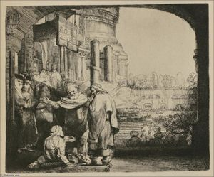 Rembrandt Van Rijn - St. Peter and St. John at the Gate of the Temple