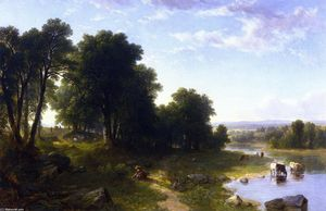 Asher Brown Durand - Strawberrying