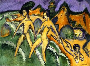 Ernst Ludwig Kirchner - Striding into the Sea