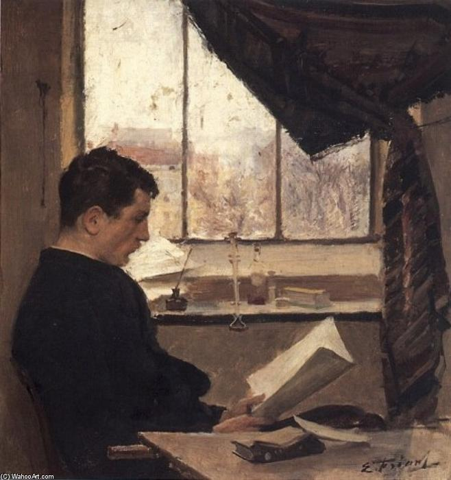 A Student (also known as Self-portrait), Painting by Émile Friant (1863-1932, France)