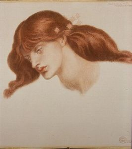 Dante Gabriel Rossetti - Study for -The Blessed Damozel-