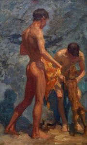 Henry Scott Tuke - Study of Bathing Boys