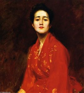 William Merritt Chase - Study of Girl in Japanese Dress