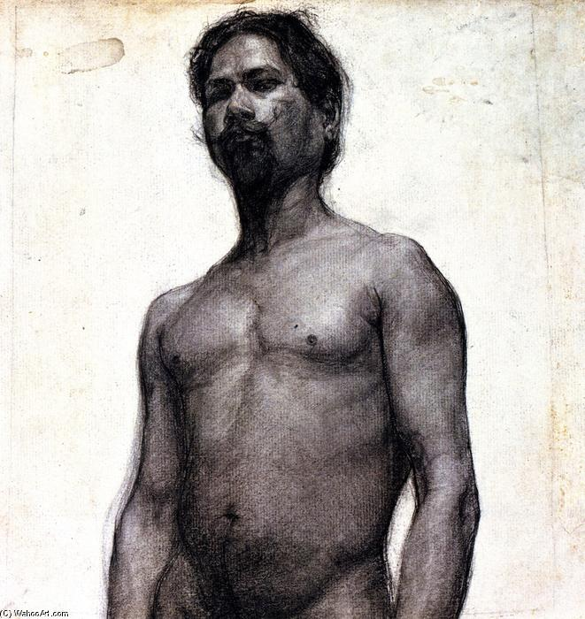 Study of a Negro Man, Drawing by Henry Ossawa Tanner (1859-1937, United States)