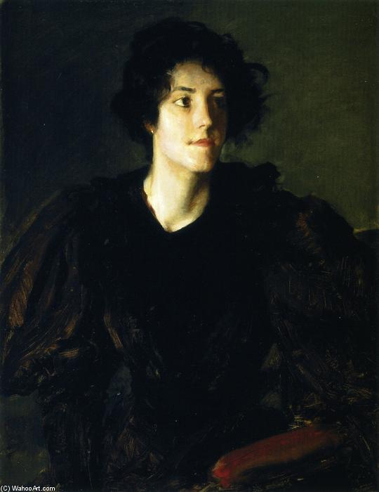 Study of a Spanish Girl (also known as A Spanish Girl), Oil On Canvas by William Merritt Chase (1849-1916, United States)