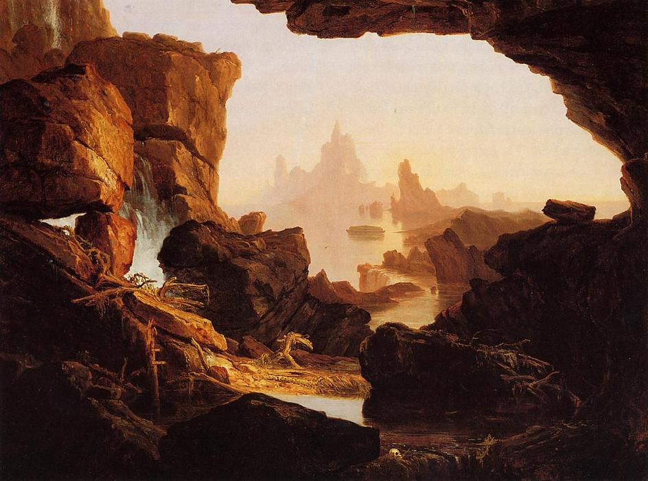 The Subsiding Waters of the Deluge, Oil On Canvas by Thomas Cole (1801-1848, United Kingdom)
