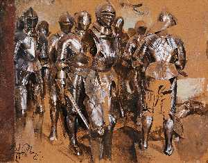Adolph Menzel - Suits of Armor Standing