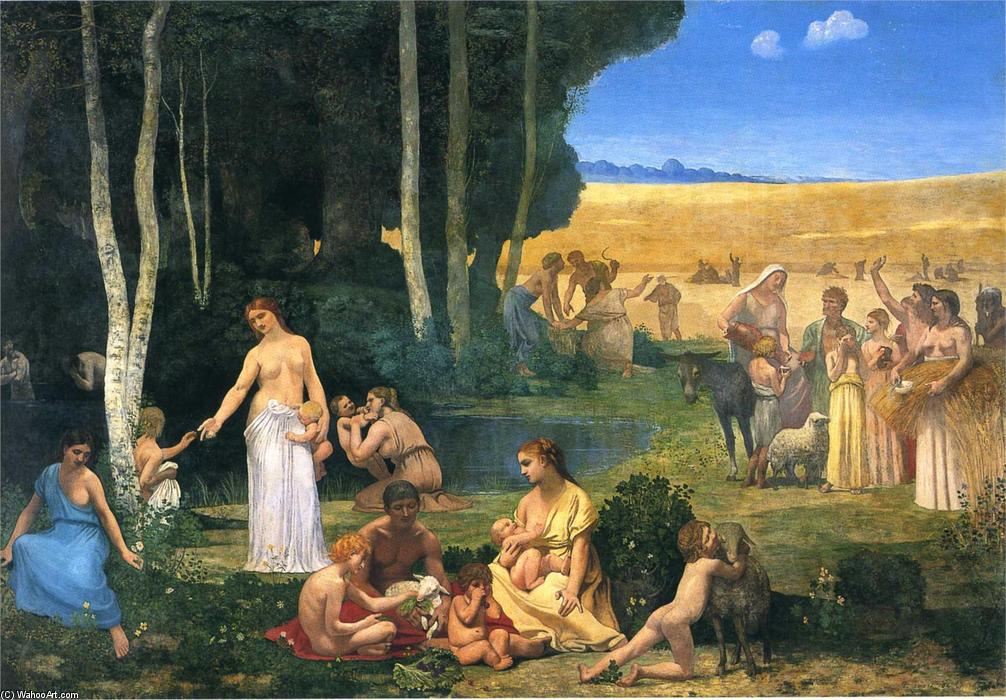 Summer by Pierre Puvis De Chavannes (1824-1898, France)