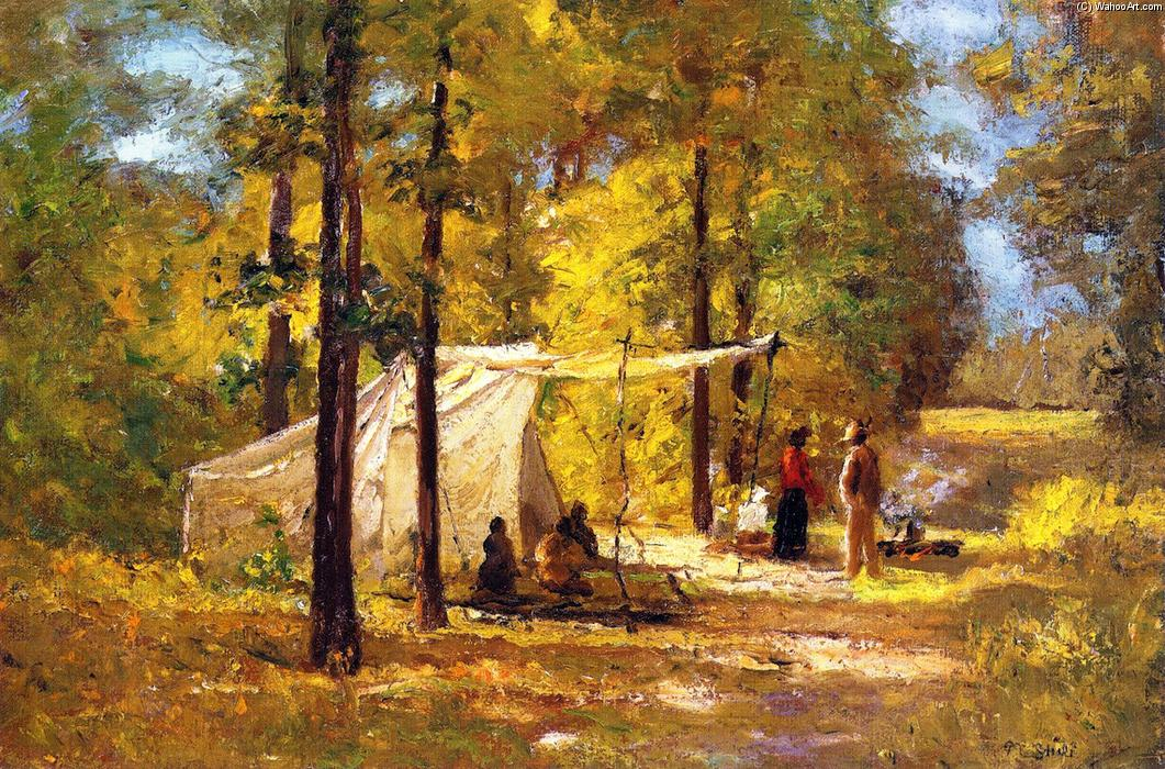 Summer Camp by Theodore Clement Steele (1847-1926, United States) | Museum Quality Reproductions | ArtsDot.com
