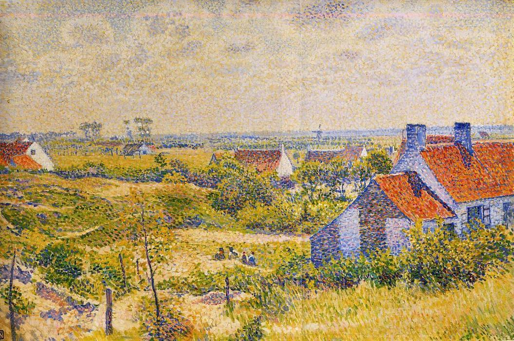 Summer Landscape of the Moor, Oil On Canvas by Theo Van Rysselberghe (1862-1926, Belgium)