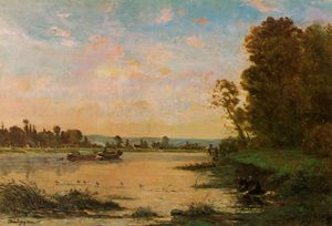 Charles François Daubigny - Summer Morning on the Ois..
